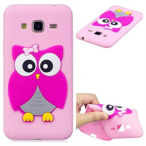 Pink Owl Soft 3D Silicone Case for Samsung Galaxy J3 2016 J320