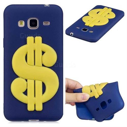 US Dollars Soft 3D Silicone Case for Samsung Galaxy J3 2016 J320