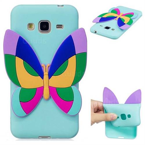 Rainbow Butterfly Soft 3D Silicone Case for Samsung Galaxy J3 2016 J320
