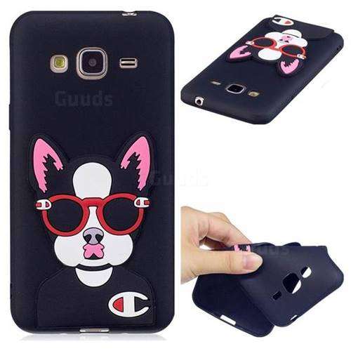 Glasses Gog Soft 3D Silicone Case for Samsung Galaxy J3 2016 J320