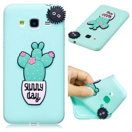 Cactus Flower Soft 3D Silicone Case for Samsung Galaxy J3 2016 J320