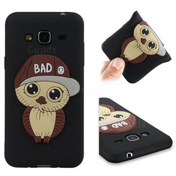 Bad Boy Owl Soft 3D Silicone Case for Samsung Galaxy J3 2016 J320 - Black
