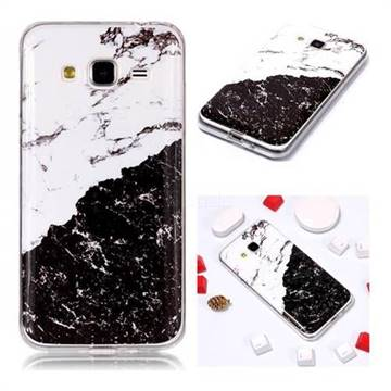 Black and White Soft TPU Marble Pattern Phone Case for Samsung Galaxy J3 2016 J320