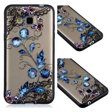 Butterfly Lace Diamond Flower Soft TPU Back Cover for Samsung Galaxy J3 2016 J320