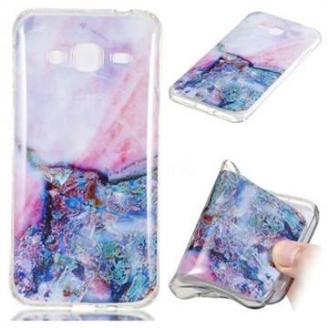 Purple Amber Soft TPU Marble Pattern Phone Case for Samsung Galaxy J3 2016 J320