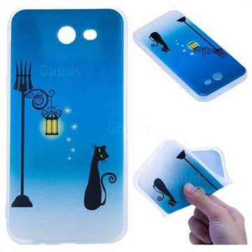 Street Light Cat 3D Relief Matte Soft TPU Back Cover for Samsung Galaxy J3 2017 Emerge US Edition