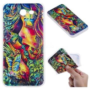 Butterfly Kiss 3D Relief Matte Soft TPU Back Cover for Samsung Galaxy J3 2017 Emerge US Edition
