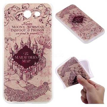 Castle The Marauders Map 3D Relief Matte Soft TPU Back Cover for Samsung Galaxy J3 2017 Emerge US Edition