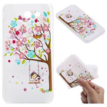 Tree and Girl 3D Relief Matte Soft TPU Back Cover for Samsung Galaxy J3 2017 Emerge US Edition