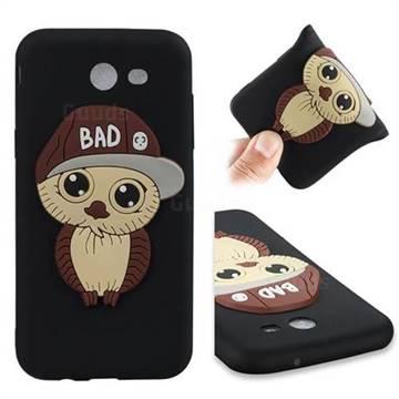 Bad Boy Owl Soft 3D Silicone Case for Samsung Galaxy J3 2017 Emerge US Edition - Black