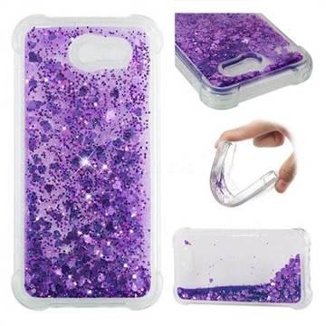 Dynamic Liquid Glitter Sand Quicksand Star TPU Case for Samsung Galaxy J3 2017 Emerge US Edition - Purple