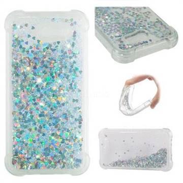 Dynamic Liquid Glitter Sand Quicksand Star TPU Case for Samsung Galaxy J3 2017 Emerge US Edition - Silver