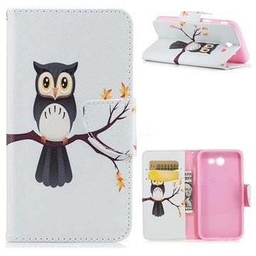 Owl on Tree Leather Wallet Case for Samsung Galaxy J3 2017 Emerge