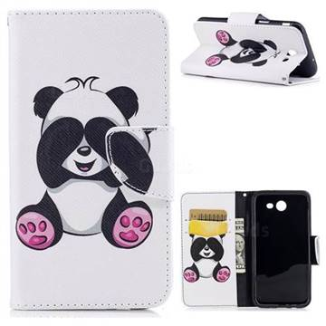 Lovely Panda Leather Wallet Case for Samsung Galaxy J3 2017 Emerge