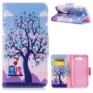 Tree and Owls Leather Wallet Case for Samsung Galaxy J3 2017 Emerge