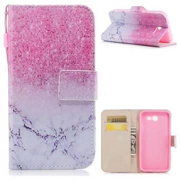 Marble Powder PU Leather Wallet Case for Samsung Galaxy J3 2017 Emerge US Edition