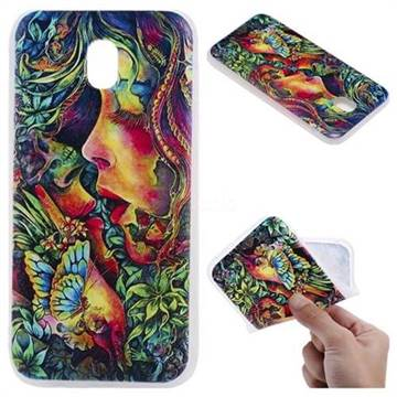 Butterfly Kiss 3D Relief Matte Soft TPU Back Cover for Samsung Galaxy J3 2017 J330 Eurasian