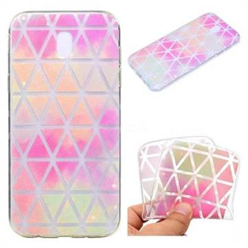 Rainbow Triangle Super Clear Soft TPU Back Cover for Samsung Galaxy J3 2017 J330 Eurasian