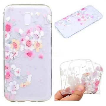 Peach Super Clear Soft TPU Back Cover for Samsung Galaxy J3 2017 J330 Eurasian