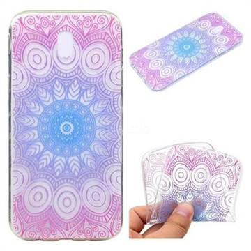 Colored Mandala Super Clear Soft TPU Back Cover for Samsung Galaxy J3 2017 J330 Eurasian