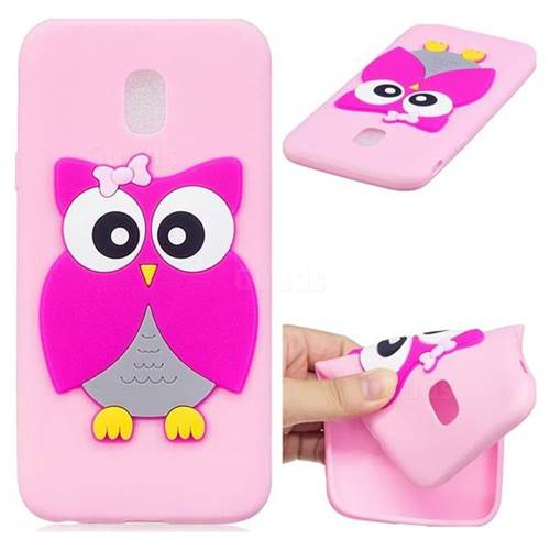 Pink Owl Soft 3D Silicone Case for Samsung Galaxy J3 2017 J330 Eurasian