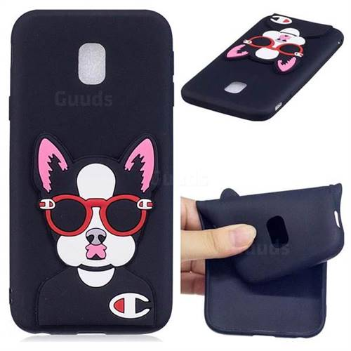 Glasses Gog Soft 3D Silicone Case for Samsung Galaxy J3 2017 J330 Eurasian