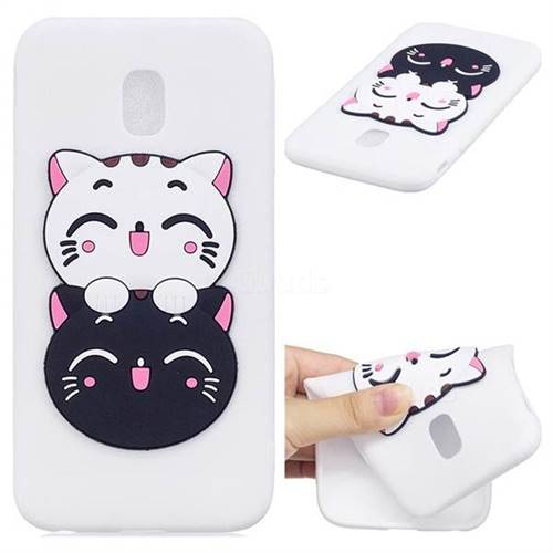 Couple Cats Soft 3D Silicone Case for Samsung Galaxy J3 2017 J330 Eurasian