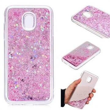 Glitter Sand Mirror Quicksand Dynamic Liquid Star TPU Case for Samsung Galaxy J3 2017 J330 Eurasian - Cherry Pink