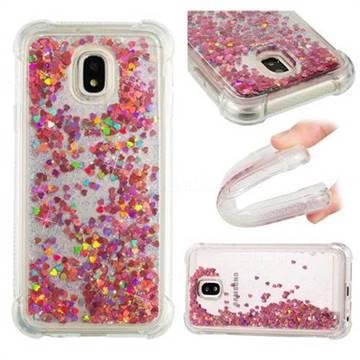 Dynamic Liquid Glitter Sand Quicksand TPU Case for Samsung Galaxy J3 2017 J330 Eurasian - Rose Gold Love Heart
