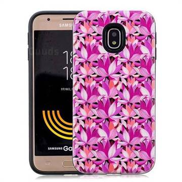 Lotus Flower Pattern 2 in 1 PC + TPU Glossy Embossed Back Cover for Samsung Galaxy J3 2017 J330 Eurasian
