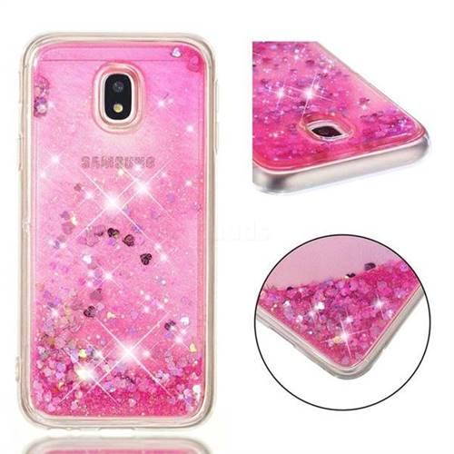 Dynamic Liquid Glitter Quicksand Sequins TPU Phone Case for Samsung Galaxy J3 2017 J330 Eurasian - Rose