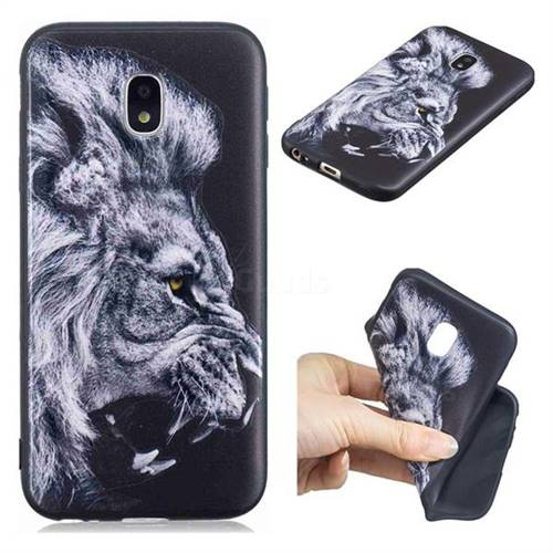 Lion 3D Embossed Relief Black TPU Cell Phone Back Cover for Samsung Galaxy J3 2017 J330 Eurasian