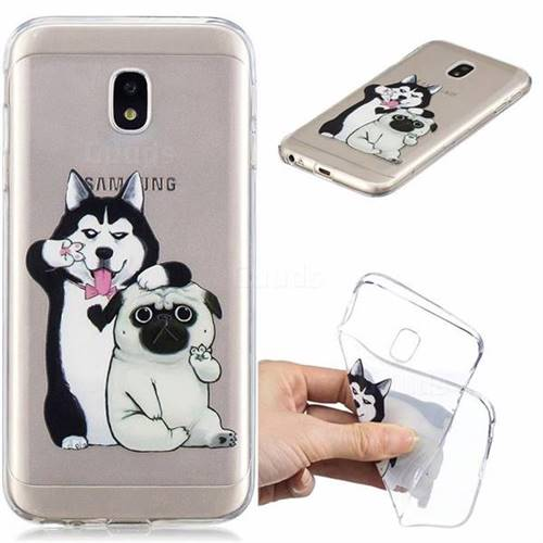 Selfie Dog Clear Varnish Soft Phone Back Cover for Samsung Galaxy J3 2017 J330 Eurasian