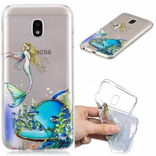 Mermaid Clear Varnish Soft Phone Back Cover for Samsung Galaxy J3 2017 J330 Eurasian