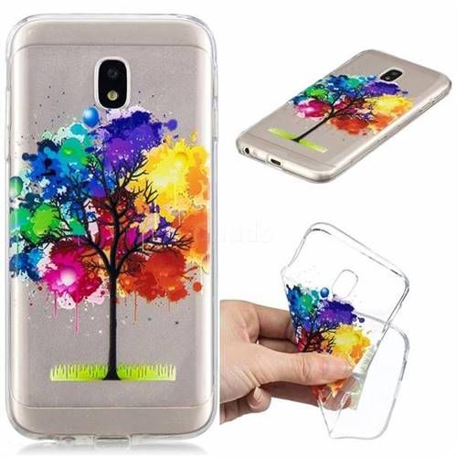 Oil Painting Tree Clear Varnish Soft Phone Back Cover for Samsung Galaxy J3 2017 J330 Eurasian