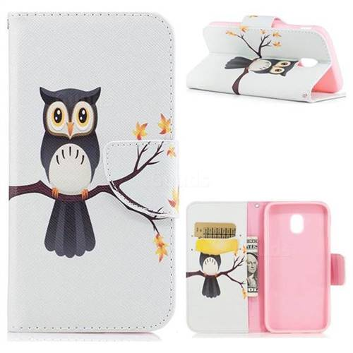 Owl on Tree Leather Wallet Case for Samsung Galaxy J3 2017 J330