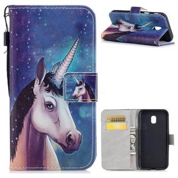 Blue Unicorn PU Leather Wallet Case for Samsung Galaxy J3 2017 J330 Eurasian