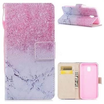 Marble Powder PU Leather Wallet Case for Samsung Galaxy J3 2017 J330 Eurasian