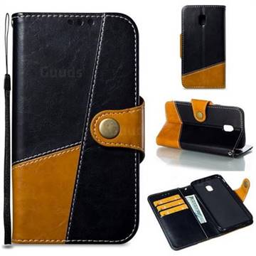 Retro Magnetic Stitching Wallet Flip Cover for Samsung Galaxy J3 2017 J330 Eurasian - Black