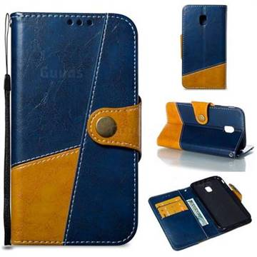 Retro Magnetic Stitching Wallet Flip Cover for Samsung Galaxy J3 2017 J330 Eurasian - Blue