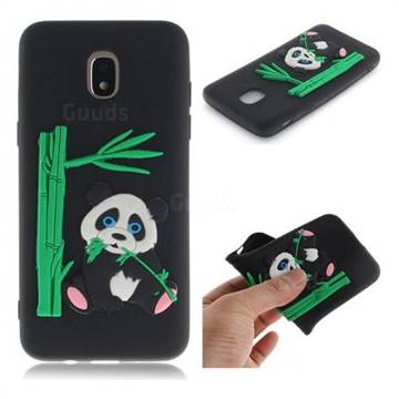 Panda Eating Bamboo Soft 3D Silicone Case for Samsung Galaxy J3 (2018) - Black