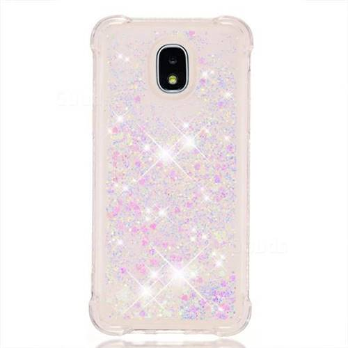 wholesale dealer d1314 8e9ed Dynamic Liquid Glitter Sand Quicksand Star TPU Case for Samsung Galaxy J3  (2018) - Pink