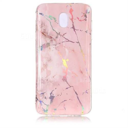buy online 75bc2 e5ebc Powder Pink Marble Pattern Bright Color Laser Soft TPU Case for Samsung  Galaxy J3 (2018)