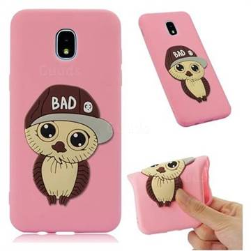 Bad Boy Owl Soft 3D Silicone Case for Samsung Galaxy J3 (2018) - Pink
