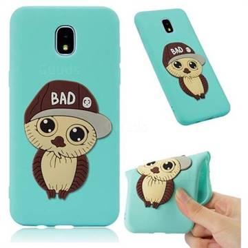 Bad Boy Owl Soft 3D Silicone Case for Samsung Galaxy J3 (2018) - Sky Blue