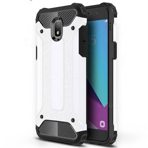 King Kong Armor Premium Shockproof Dual Layer Rugged Hard Cover for Samsung Galaxy J3 (2018) - White