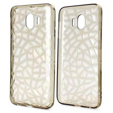 Diamond Pattern Shining Soft TPU Phone Back Cover for Samsung Galaxy J4 (2018) SM-J400F - Gray