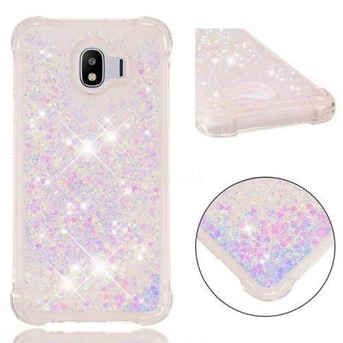 Dynamic Liquid Glitter Sand Quicksand Star TPU Case for Samsung Galaxy J4 (2018) SM-J400F - Pink