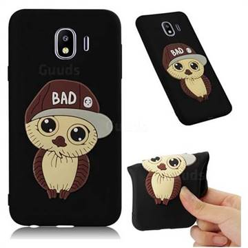 Bad Boy Owl Soft 3D Silicone Case for Samsung Galaxy J4 (2018) SM-J400F - Black