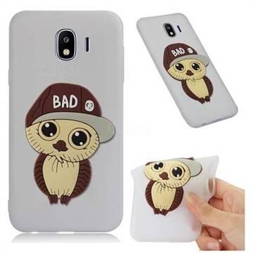 Bad Boy Owl Soft 3D Silicone Case for Samsung Galaxy J4 (2018) SM-J400F - Translucent White